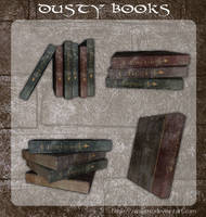 3D Dusty Books by zememz
