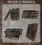 3D Dusty Books