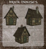 3D Brick Houses by zememz