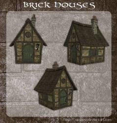 3D Brick Houses by zememz