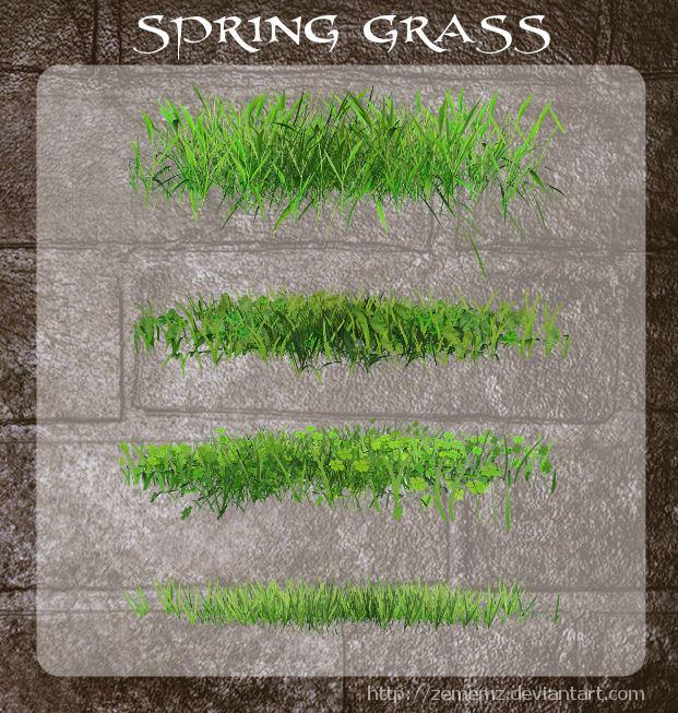 3D Spring Grass by zememz