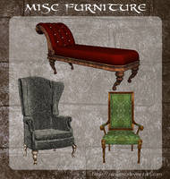 3D Misc Furniture by zememz
