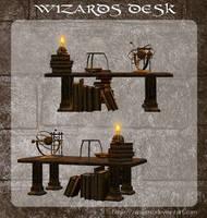 3D Wizards Desk by zememz