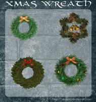 3D Xmas Wreath by zememz