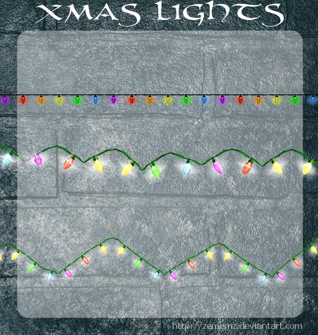 3D Xmas Lights by zememz