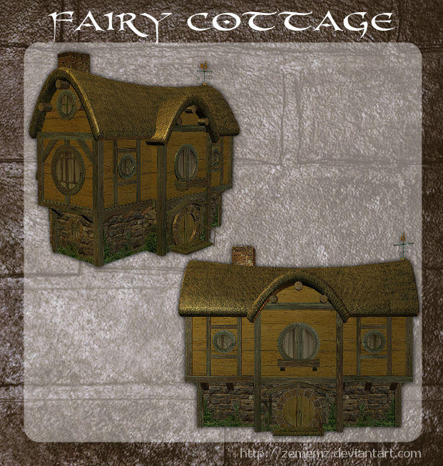 3D Fairy Cottage by zememz