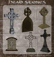3D Head Stones by zememz