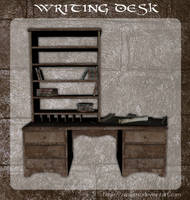 3D Writing Desk by zememz