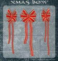 3D Xmas Bows by zememz