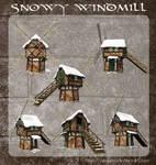 3D Snowy Windmill