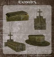 3D Tombs by zememz