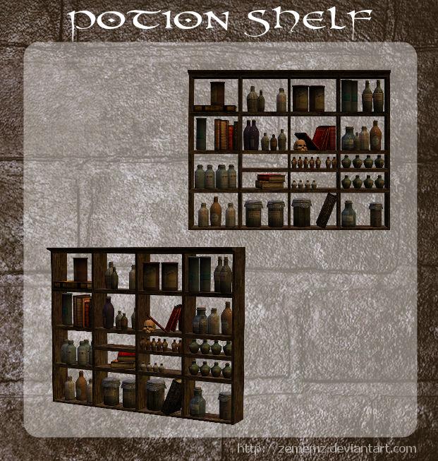 3D Potion Shelf