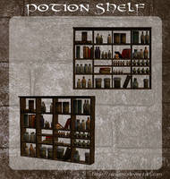 3D Potion Shelf by zememz