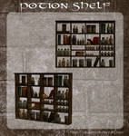 3D Potion Shelf