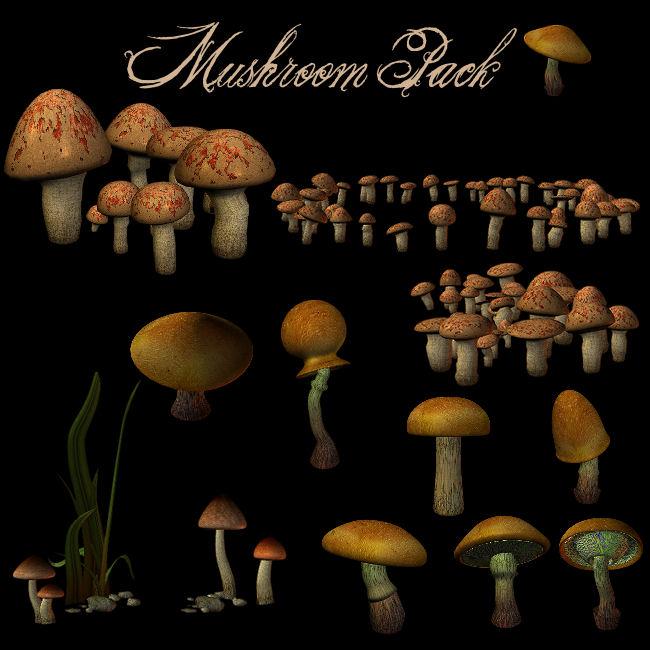 Mushrooms Pack 1