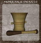 3D Mortar + Pestle