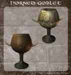 3D Horned Goblet