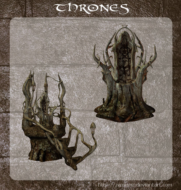 3D Forest Throne