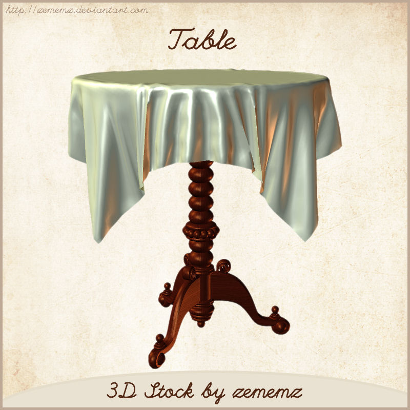 3D Table by zememz
