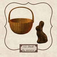 3D Easter Basket and Bunny by zememz