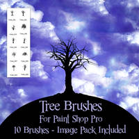 Tree Brushes 2 PSP by zememz