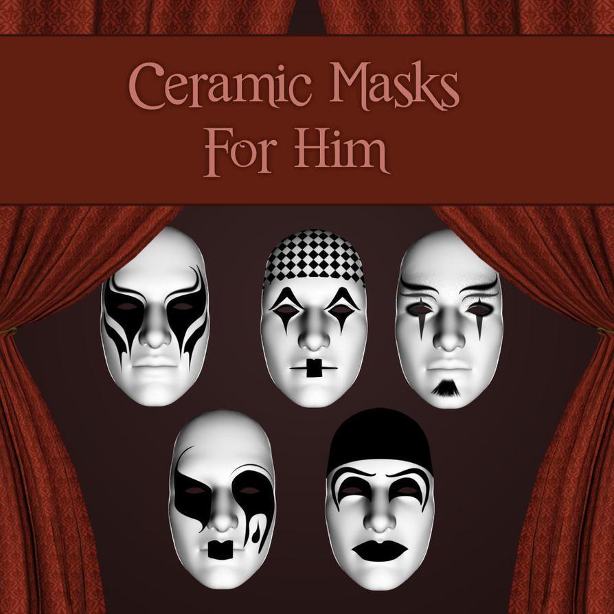 Ceramic Masks For Him by zememz