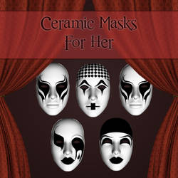 Ceramic Masks For Her