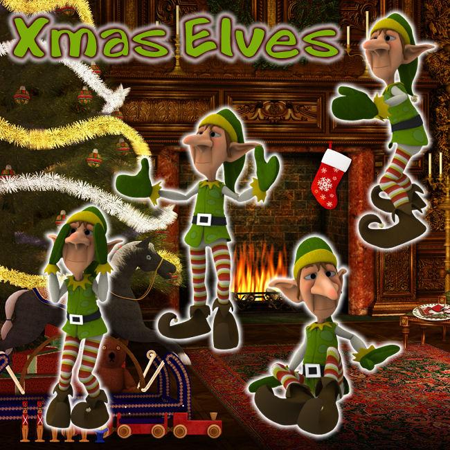 Xmas Elves by zememz