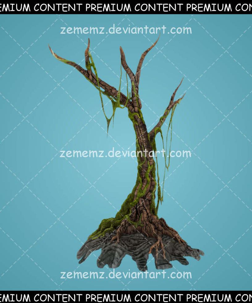 Creepy Trees 003 - Premium Content by zememz