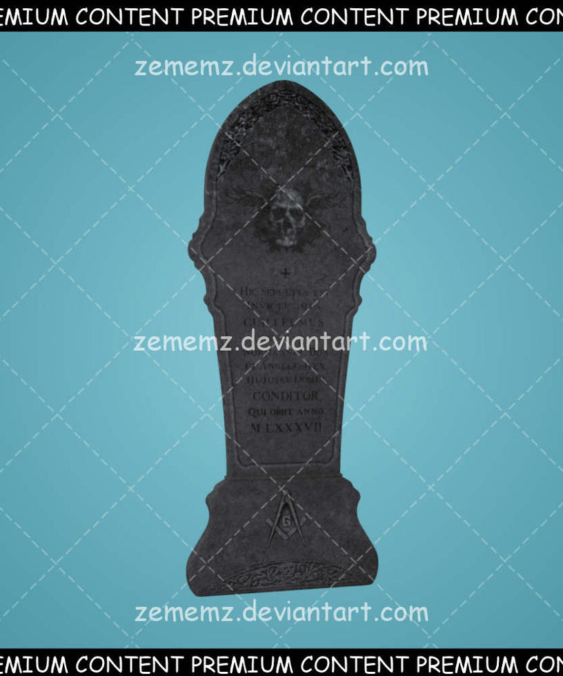 Headstone 004 - Premium Content by zememz