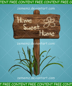 Wooden Sign 001 - FREE Content