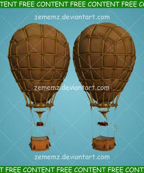 Steampunk Air Balloon 001 - FREE Content
