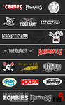 punk and psychobilly logos