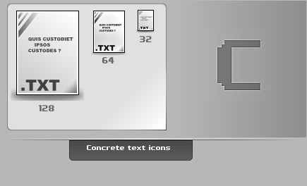 Concrete.Text.Icons by thibaut28