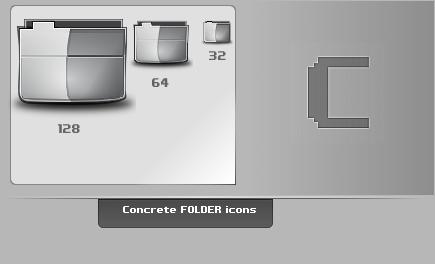 Concrete.Folder.Icons by thibaut28