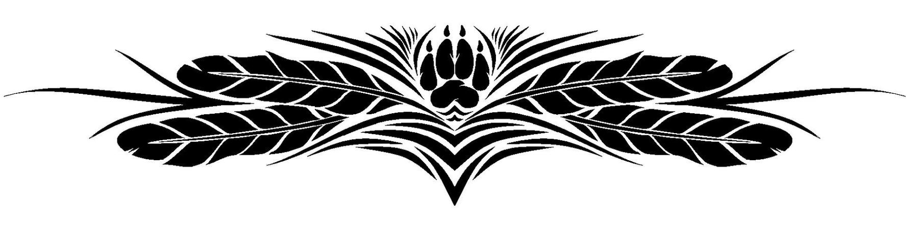 Wolf paw and feathers by talentwasted on deviantart for Wolf tattoo with feathers