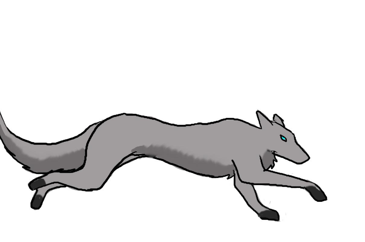 Волк бежит анимация на прозрачном фоне