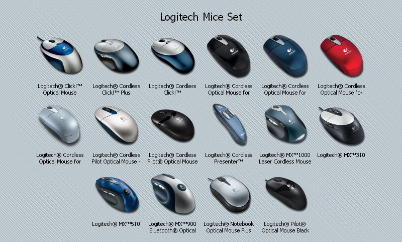 Hardware Set - Logitech Mice by the-ace