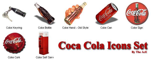 Coca Cola Icons Set