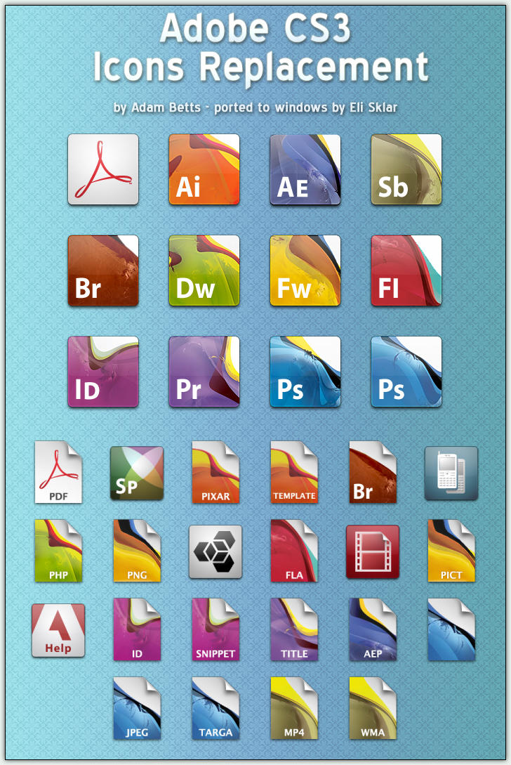 Adobe CS 3 Icons Replacement by the-ace