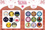 Buttons and Pocket miror 2015 by Clange-kaze