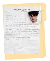 Criminal Record | Template | PSD by Porcelain