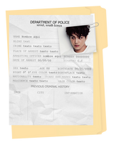 Criminal Record | Template | PSD by Porcelain by ItsPorcelain