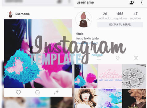 Instagram Template 2016 | PSD | Porcelain