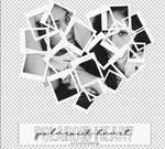 polaroid heart | template | psd | porcelain
