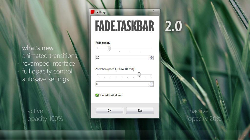 Fade.Taskbar 2.0 by Ritwyk
