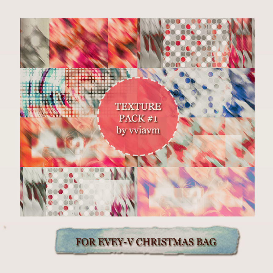 Texture Pack #1 by vviavm for Evey-V Christams Bag by vviavm