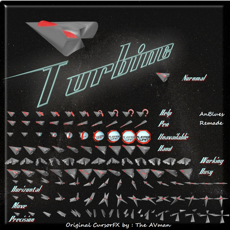 Turbine cursor pack
