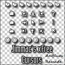 Jimmac's xFree Cursors