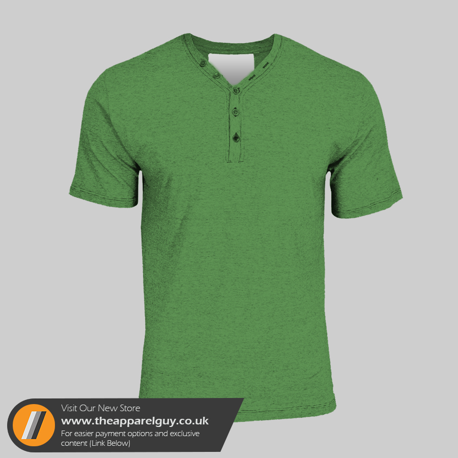 Fashion Button V-Neck PSD
